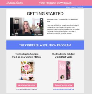 Cinderella Solution Download Page